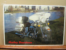 Vintage Poster Harley-Davidson motorcycle car garage man cave 1964