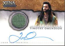 QUOTABLE XENA AUTO COSTUME CARD AC7 TIMOTHY OMUNDSON