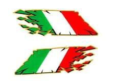 Italian Flag Tearing / exploding / rip decals / stickers Ducati Aprilia MV