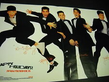 New Kids On The Block Supersized 1990 Promo Display Ad Happy Holidays mint cond