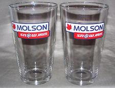 Molson Canadian SnowJam BEER Glasses (Set of Two) / 2002 Buffalo NY / NICE Glass