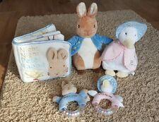BEATRIX POTTER PETER RABBIT Official Plush Soft Toys bundle soft book bunny tale