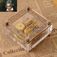 Acrylic Cubic Gold Wind Up Music Box : Fur Elise