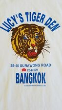 VTG RARE Lucys Tiger Den Bangkok Vietnam Veteran Bar Graphic Tee XL T-Shirt 1985