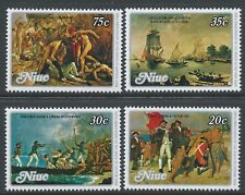 1979 NIUE DEATH OF CAPTAIN COOK BICENTENARY SET OF 4 STAMPS FINE MINT MNH
