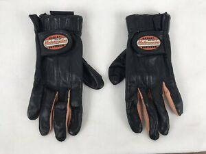 Harley Davidson Motorcycles Black Leather Riding Gloves Women's Size Small (W1)