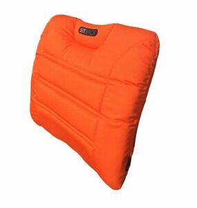 SITBACK AIR Fahrzeug Rückenkissen mit aufblasbarem Luftkissen neon orange
