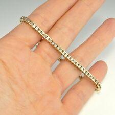 Delicate Bridal 3.2 CTW F Diamond Tennis Bracelet Vintage 14K Gold Anniversary