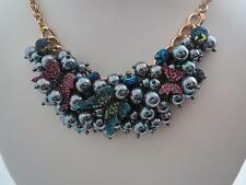 Betsey Johnson you give me butterflies cluster bead/butterfly necklace,NWT