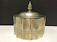 Godinger - Engraved Silverplate Round Jewelry Box With Velvet Lining�