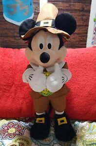 Fall Holiday Thanksgiving Disney 24 in Tall Mickey Mouse Pilgrim Greeter