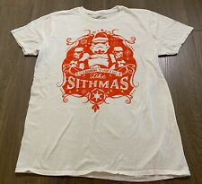 Mens size M White STAR WARS CHRISTMAS Top / T-shirt MERRY SITHMAS *Great Con*