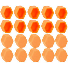 20x Orange Car Wheel Nut Lug Dust Cover Cap Protector Tyre Bolt Hub Screw Cap