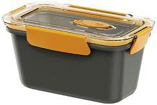 Emsa Bento Box Lunchbox Supply Vessel Microwavable Pot Rectangular 0,9l Grey/