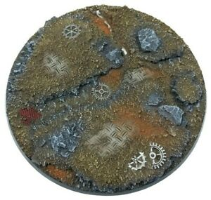 Ruined Factory - Round Resin Bases 100 mm-1 Painted/Unpainted Base for Warhammer