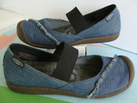 Keen ~ Wo's The Good Jean Project Denim Mary Jane Bumper Toe Shoes Sz 7.5 ~ GOOD