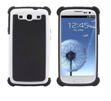 Samsung Galaxy S3 III i9300 Black White Dual Hybrid Shockproof Rugged Case Cover