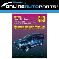 Haynes Workshop Repair Manual Book suits Landcruiser 60 61 62 70 73 75 80 Series