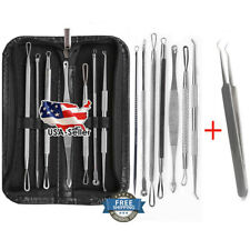 8PCS Blackhead Acne Pimple Blemish Extractor Remover Tool Kit Curved Tweezers
