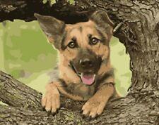 Puppy Dog German Shepherd Animal Painting Dogs Artwork Paint By Numbers Kit DIY