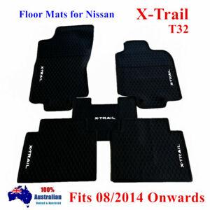 Heavy Duty Rubber Floor Mats For Nissan Xtrail X-Trail T32 14 - 2021 White Black