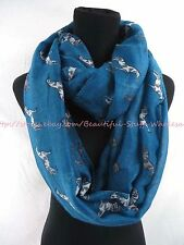 US SELLER-jewelry scarves equestrian horses equine animal scarf infinity scarf