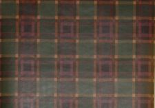 Raymond Waites Green, Burgundy, Honey Gold Med. Plaid Wallpaper - 5825305