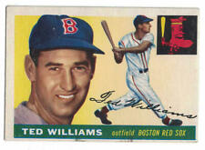 Ted Williams Boston Red Sox 1955 Topps 2 Card 80251