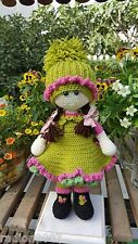 Hand made knitted doll