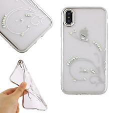 ^ Beeyo Strass Blumen Diamant Hülle Schale Motiv Etui Für Apple iPhone 5 Silber