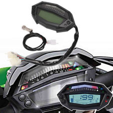 Multi Motorcycle Digital Speed Gauge Tachometer ECL Gear Indicator Universal 1x