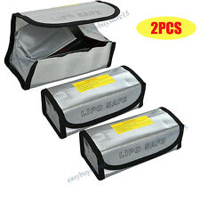 2X LiPo Safe Battery Guard Charging Protection Bag Explosion Proof 185X75X60mm