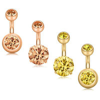 4PCS Surgical Steel CZ Ball Short Belly Button Ring Earring Navel Belly Ring 14G