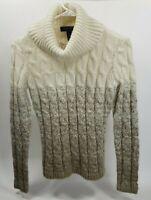 Lauren Ralph Lauren Womens Knit Acrylic LS Turtle Neck Taupe Sweater Petite Sm