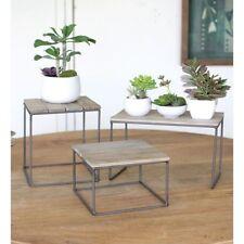 Rustic Wood and Metal Riser Set, 88229
