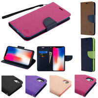 "FOR APPLE IPHONE XR 6.1"" FLIP JACKET WALLET POUCH CASE CARD SLOT COVER+STYLUS"