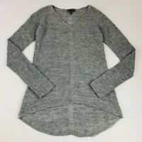 Eileen Fisher Women's Size 2XS Pullover Sweater Gray Long Sleeve Thin Knit