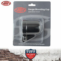 "SAAS Black 52mm 2"" Gauge Cup Holder Pod With Adjustable Mounting Bracket"