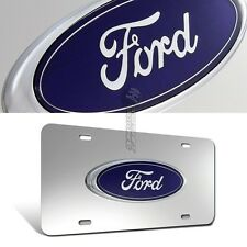 Ford 3D  Logo Stainless Steel Front License Plate Frame Metal Authentic