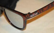 Nectar Men Cypress Sunglasses Brown Tortoise Mirrored Black Lenses Surf Skate