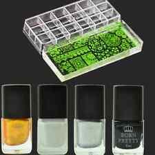 7Pcs/Set Nail Art Stamp Polish Gigantic Clear Jelly Stamper W/2Scrapers Manicure