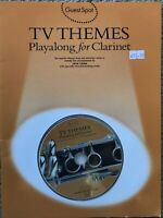 Guest Spot: TV Themes Playalong for Clarinet by Music Sales Ltd (BOOK/CD) NEW