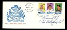 Guyana 1993 Ilustrado Fdc Firmado Sir Shridath Sonny Ramphal