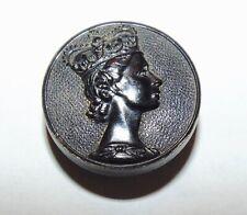 SALE Medium Vintage Queen Elizabeth II Horn Button #1107