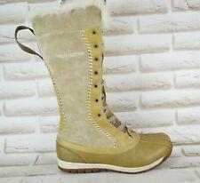 HELLY HANSEN Womens Brown Leather Mid-Calf Winter Boots Zip Size 5 UK 38 EU