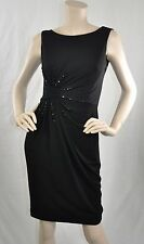 Anne Klein New W Tags Sleeveless Cocktail Embellished Dress Black Size 2 $129