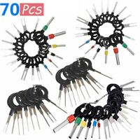 70Pcs Pin Ejector Wire Kit Extractor Auto Terminal Removal Connector Multitools