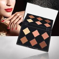 Matte Highlighter Contour Shading Powder Makeup 3D Face Compact Palette