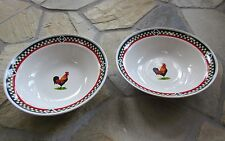 Bob Timberlake ELLA ROOSTER Vegetable Bowls----Set of 2----New