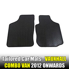 Vauxhall Combo van (2012-Date) New Black Rubber Tailored Car Mats Van Floor Mats